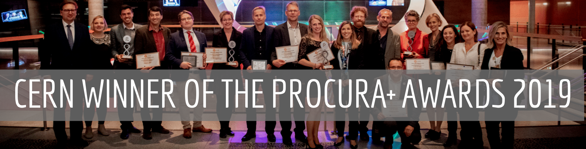 CERN winner of the Procura+ Awards 2019